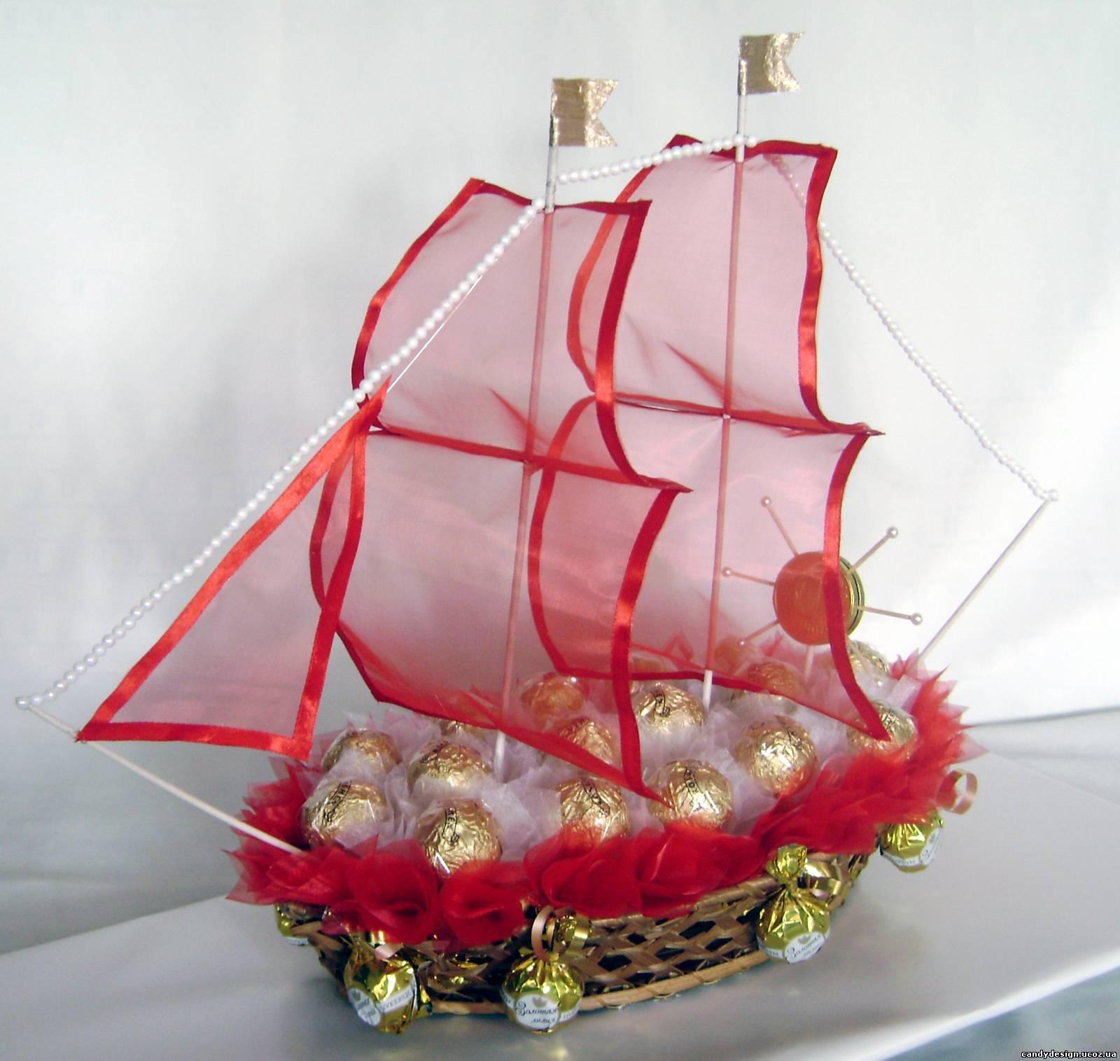 Своими руками парус для корабля с конфетами 86